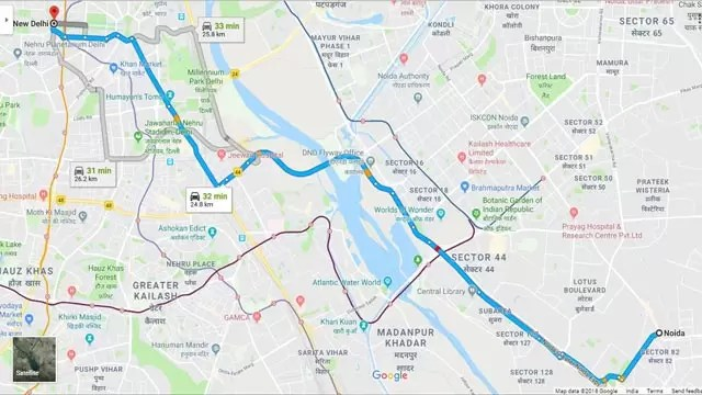 How Google Map Works in Hindi
