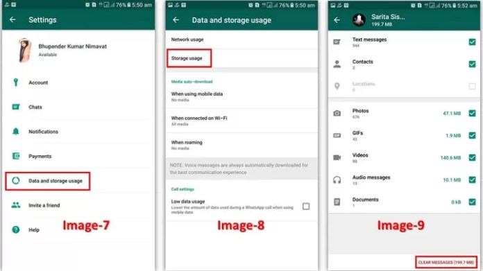 How to Fix Mobile internal storage Low Problem from WhatsApp?