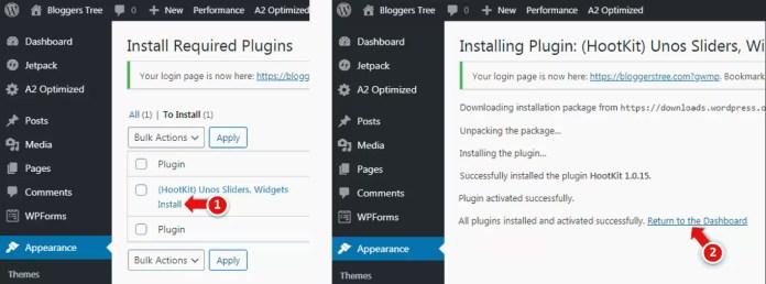Being installing Plugin in WordPress