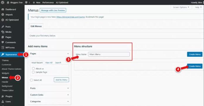 How to Create Menu in WordPress in Hindi?