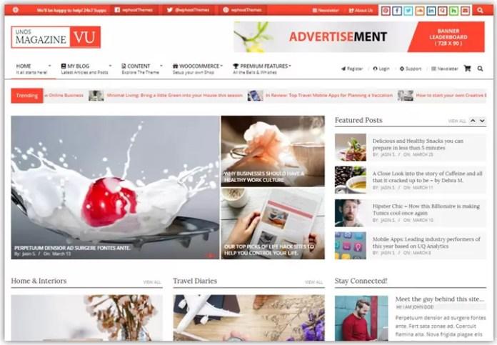 unos Magazine VU demo site