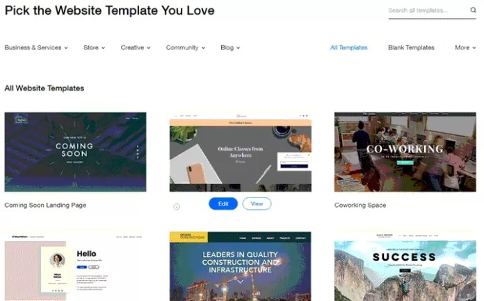 Wix Themes and Templates