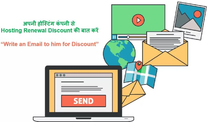 Send Email for Web Hosting Renewals Discount