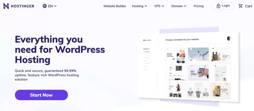 Hostinger WordPress Web Hosting
