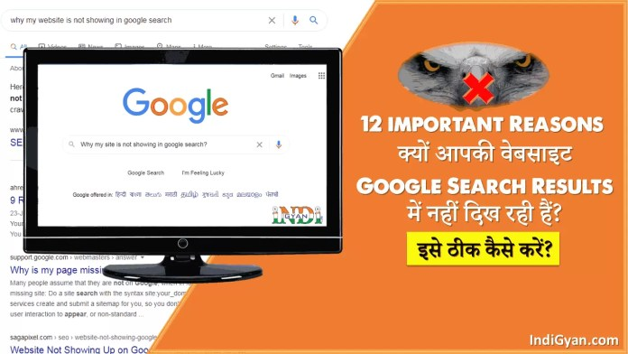 Website Not Showing in Google Search Results in Hindi