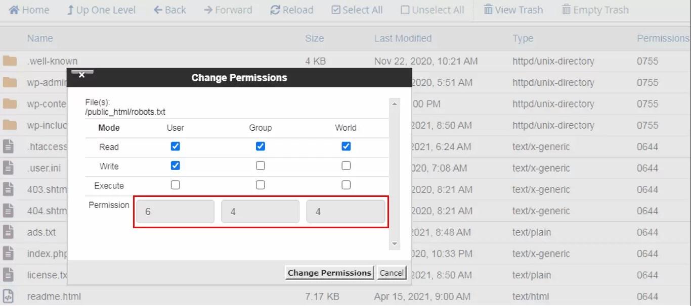Set Permissions in Robots.txt