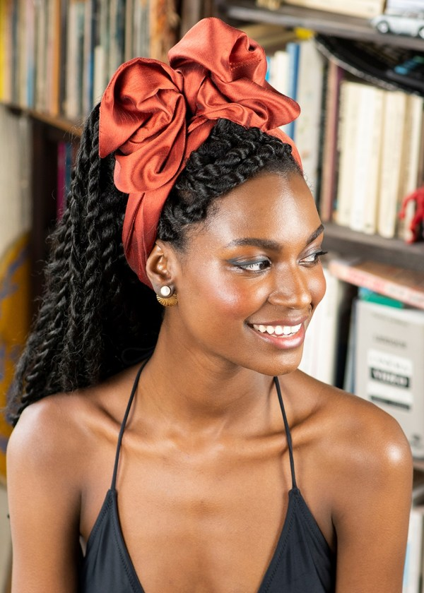 Headband flexible JACKIE - Orange Massaï