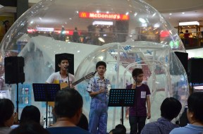 Pretty young talents performing in the mall