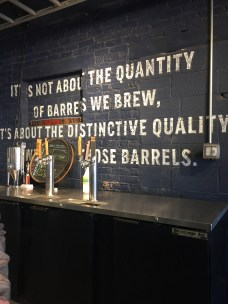 Goose Island incorporated lots of cool quote art throughout their brewery