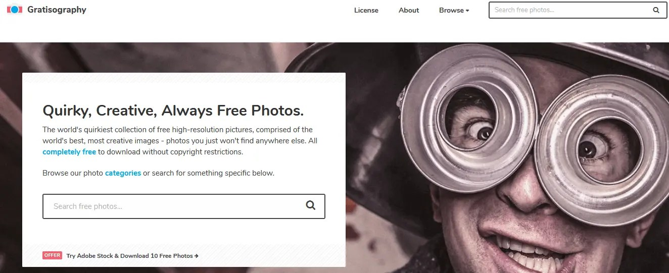 Free Stock Images For Bloggers Using The Gratisography Website
