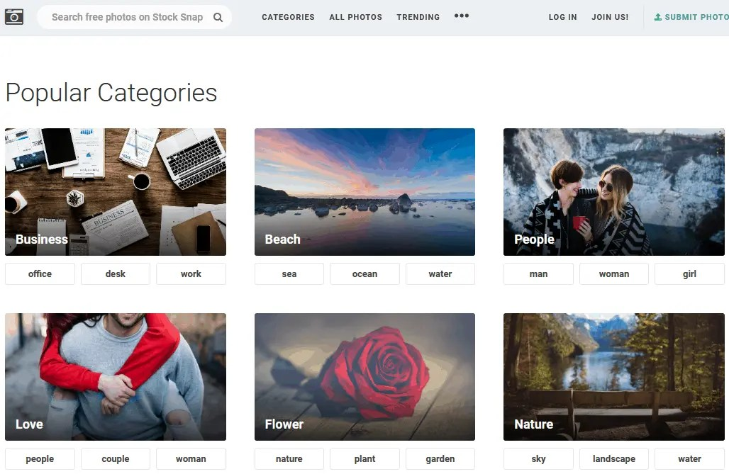 Free Stock Photography Images Using The Stock Snap Website