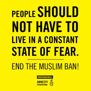 No Ban No Wall, Amnesty International
