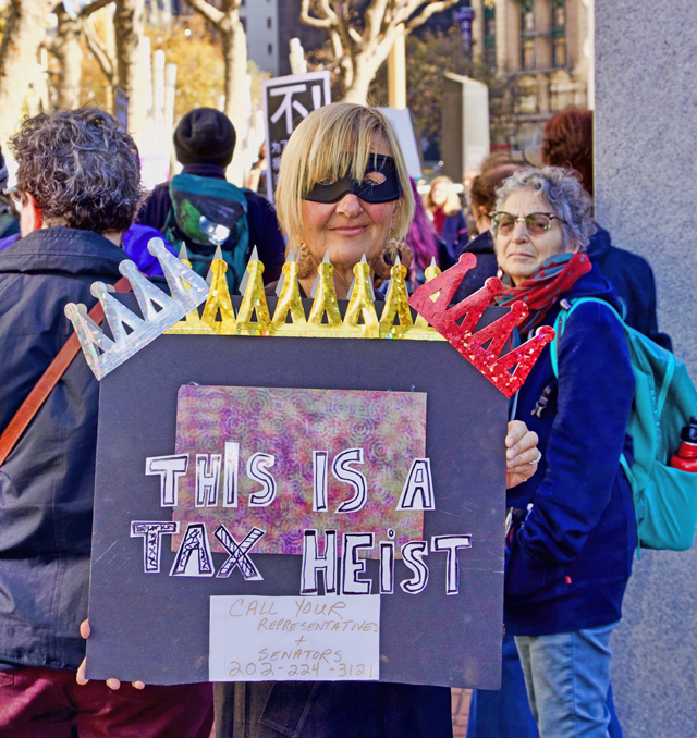 Tax rally photo by Charles Moehle