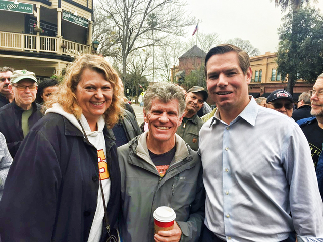 Ward and LeAnn Kanowsky with Rep Eric Swalwell