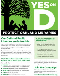 Measure D Oakland Libraries