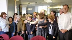 IEB & ISF meeting with Senator Feinstein staff on Jun 20 . Photograph by Catherine de Neergaard.