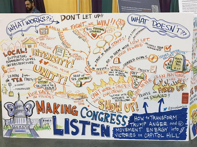 Netroots Visual Recording, by Nancy Latham