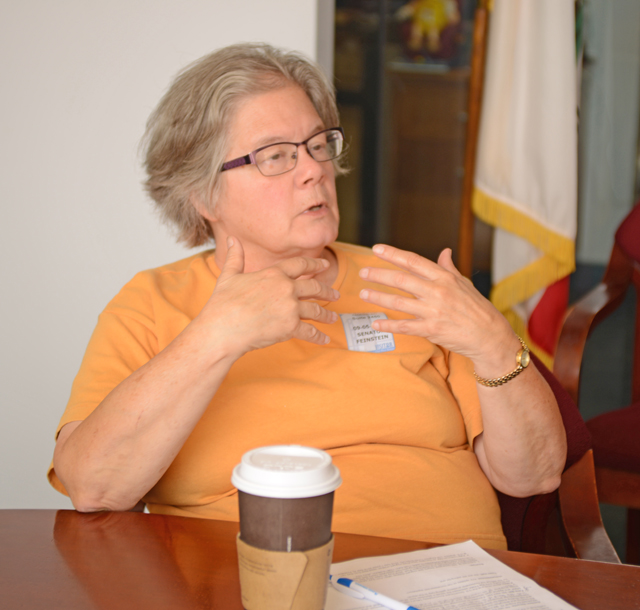 IEB meeting with Senator Feinstein staff, Candace Goldman. Photo by Toby St. John