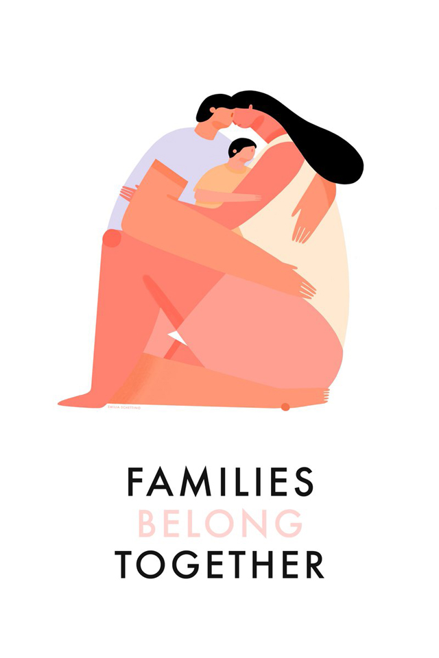 Families Belong Together. Graphic by instagram user @desdemona1