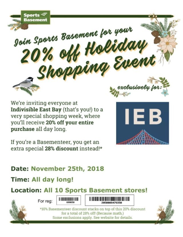 Sports Basement discount 11.23.18