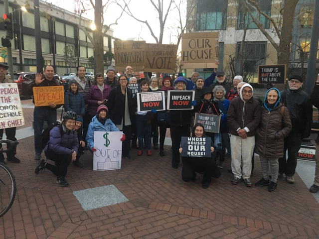 IEB and other Indivisible groups outside Rep. Lee's Oakland office