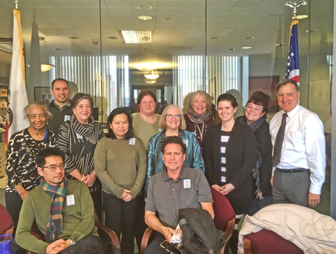 Meeting with Sen Feinstein staff, Feb 6, 2019