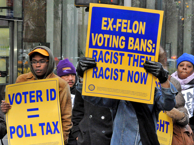 Felon voting rights, photo by Michael Fleshman