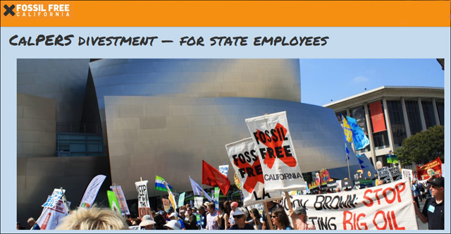 Fossil Free California - CalPERS divestment