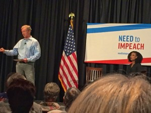 Tom Steyer at Pleasanton Town Hall 4/23/19, photo by Katie Cameron