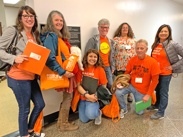 ACCFB outside Senator Steve Glazer's office on Hunger Action Day 2019. Photo by Brittany Paris
