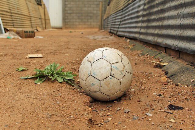https://www.maxpixel.net/Abandoned-Soccer-Old-Refugee-Ball-Camp-4192860