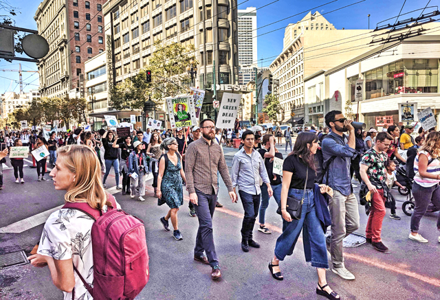 SF Climate Strike March, Sept. 20, 2019, photo by Anne Spevack