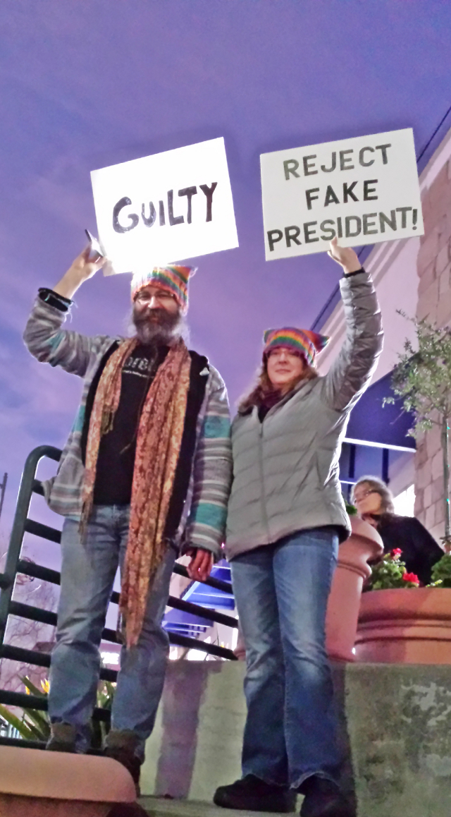 No Witnesses, No Fair Acquittal protest, El Cerrito 1/5/20, photo by Heidi Rand