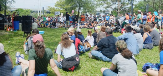 After the march, science demos were held on the grounds of the Museum of Science and History.