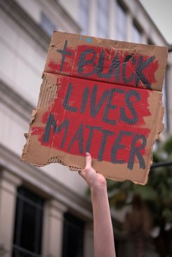 """Black lives matter."" A scene from the protest for social justice and police accountability at the Duval County Courthouse. Jacksonville, Florida, 6-6-2020."