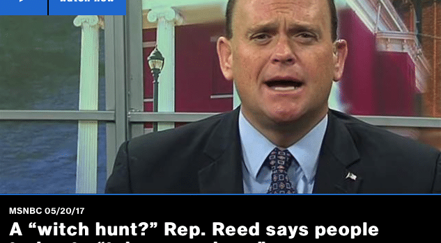 "Tom Reed Talks About a ""Witch Hunt"" on MSNBC"