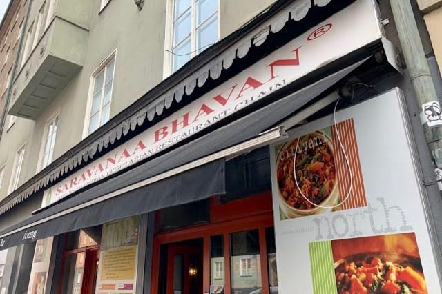 Intialainen ravintola Saravanaa Bhavan Tukholmassa