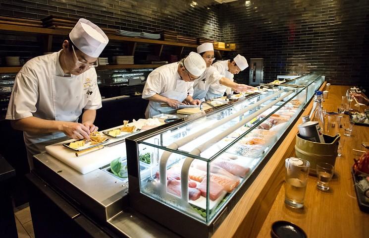 teppanyaki open kitchen