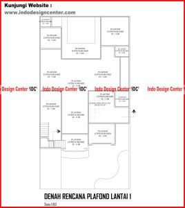 048.Denah Rencana Plafond Lantai 1