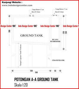 056.Potongan A-A Ground Tank