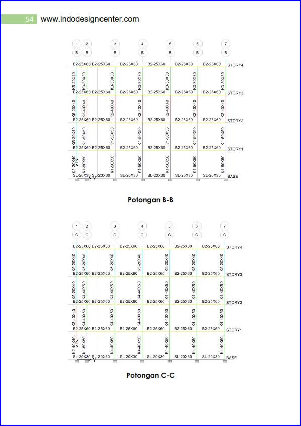 Hasail Perhitungan Struktur 4 Lantai .01_054