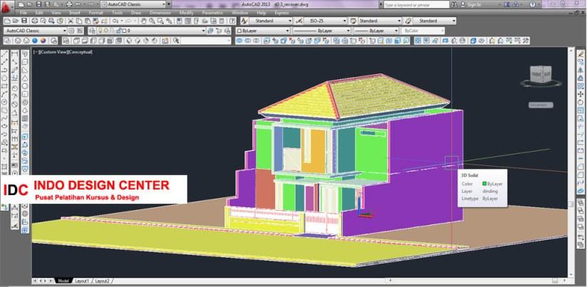 Hasil Kursus CAD 2D & 3D Pak Rudi Cibaduyut Bandung Jawa Barat (1)