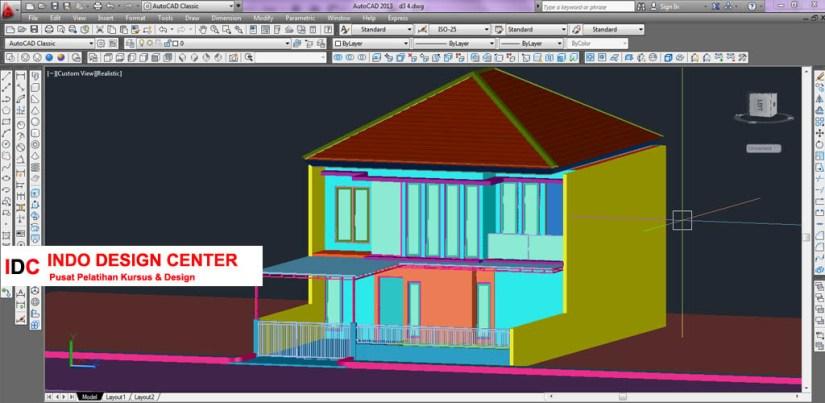 Hasil Kursus CAD 2D & 3D Pak Yuli Buah Batu Bandung Jawa Barat