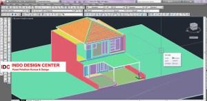 Hasil Kursus CAD 2D dan 3D Teh Irma Ujung Berung Bandung