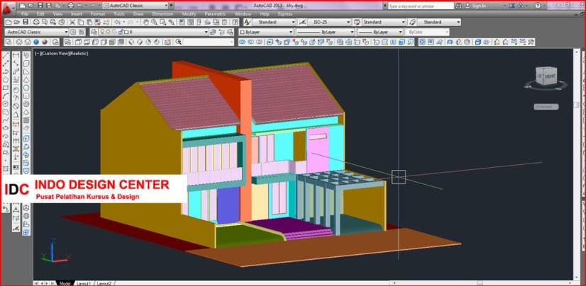 Kursus AUTOCAD 2D 3D dan 3Ds Max Mas Anto Di Bandung