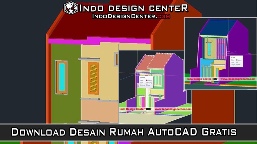 Download Desain Rumah AutoCAD Gratis