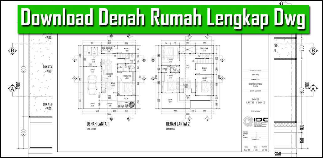 Download Denah Rumah Lengkap Dwg Download Autocad File Dwg Gratis