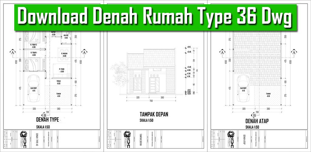 Download Denah Rumah Type 36 Autocad Dwg Gambar Kerja Autocad Dwg