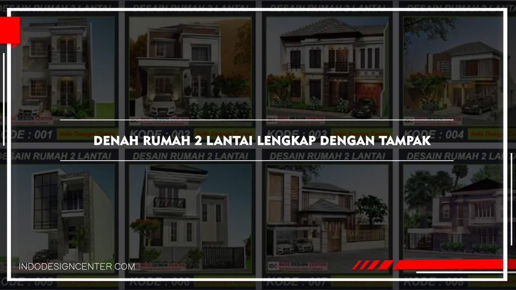 Denah Rumah 2 Lantai Lengkap Dengan Tampak