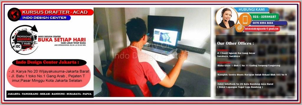 Kursus Gambar Denah Di Cempaka Putih Timur - Jakarta - Tangerang - Bekasi - Bandung - Surabaya